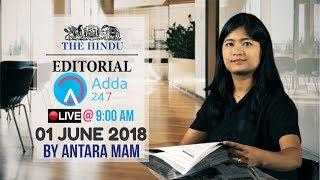 THE HINDU EDITORIAL ANALYSIS  1ST JUNE   UPSC,RRB,SBI CLERK/IBPS,SSC,CLAT & OTHERS   Antara Mam