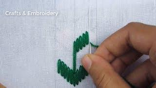 Hand Embroidery, Simple Border Line Embroidery Tutorial, Easy Border Design