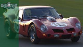 Screaming Ferrari Breadvan in vicious Kinrara E-type battle | On board