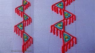 Modern Hand Embroidery Stitches | decorated Hand Stitch border line video tutorial