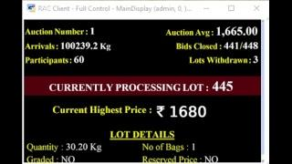 Spices Board Of India Puttady e-Auction - 05.04.2019 SIGCL Live