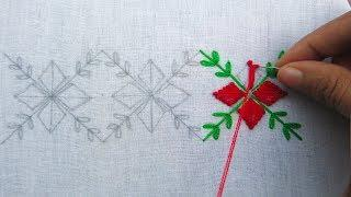 Hand Embroidery, Latest Border Line Embroidery, Border Design For Dresses