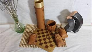 Leather craft.  Gift ideas. Chess. Backgammon. Russian checkers.Board games