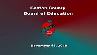 Tuesday, November 13 Gaston County Board of Education
