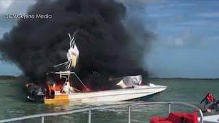 Woman killed, 7 others injured after a tourist boat explodes