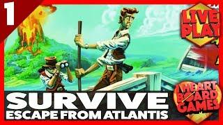 SURVIVE: Escape From Atlantis! (Session 1, 4 Players) Live Board Game Session! I Heart Board Games!