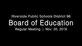 LIVE: District 96 Board of Education Regular Meeting 11-20-19
