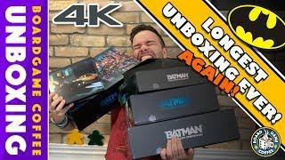 Batman Gotham City Chronicles 4k Unboxing with Board Game Coffee