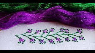Hand Embroidery Border line Design-13,Latest border line design for dress by Nokshi_Katha নকশী_কাঁথা