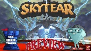 """SKYTEAR"" a Dice Tower Preview - with Boardgame Corner"
