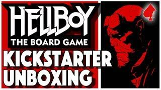 Hellboy the Board Game Kickstarter Edition Unboxing